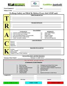 Safety - TRACK Form