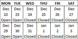 stoneco-2014-holiday-schedule